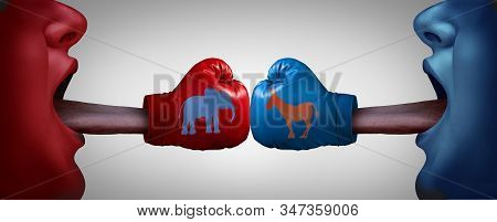 American Political Fight Or Impeachment Trial And Impeaching The United States President As Congress