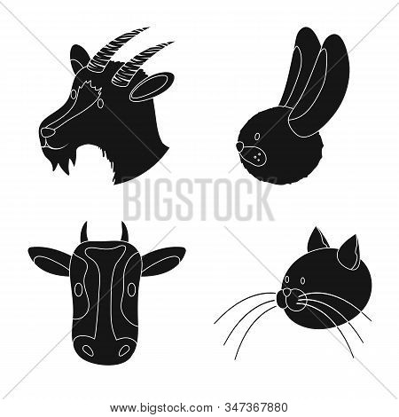 Isolated Object Of Ranch And Organic Sign. Set Of Ranch And Head Stock Vector Illustration.