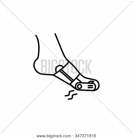 Gout Pain Line Icon On White Background