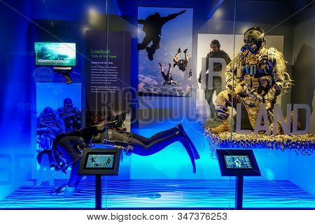 Ft. Pierce,fl/usa-1/27/20: The A Display At The Navy Seal Museum That Educates Visitors About Navy S