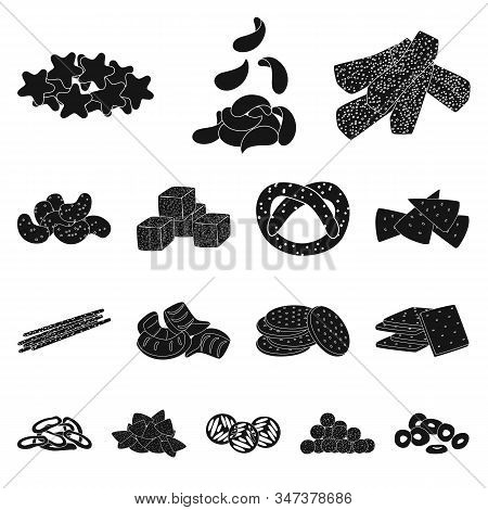 Vector Design Of Party And Cooking Logo. Set Of Party And Crunchy Stock Symbol For Web.