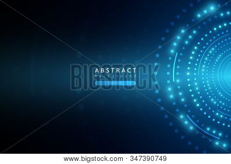 Blue Abstract Technology Cyberspace Background,internet Connection Background,futuristic Technology