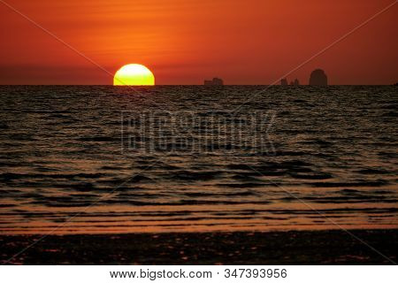 A Sunset View With Omega Sun At Hat Yao, Krabi, Thailand