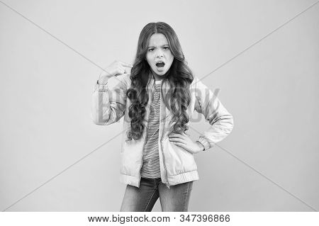 Watch Out. Moody Girl. Modern Fashion For Kids. Clothes Store. Autumn Season Collection. Street Styl