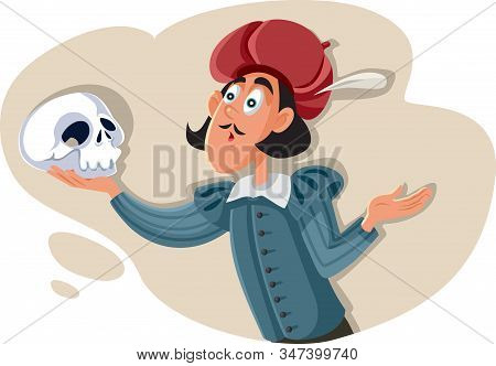 Hamlet Holding Skull Asking To Be Or Not To Be - Existential Question