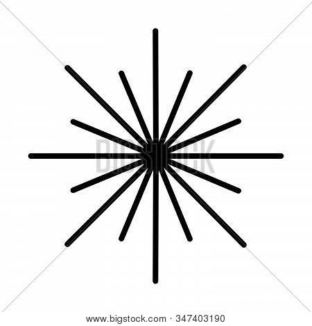 Retro Sun Burst Shape And Vintage Sunburst Explosion. Light Rays Of Burst. Vintage Logo, Labels, Bad