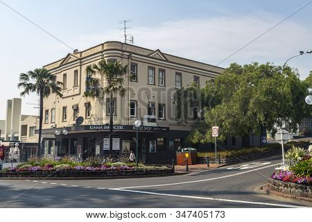 Kiama, Australia - December 19, 2019: Facade Of The Magnificent Kiama Inn Hotel, Formerly Known As T