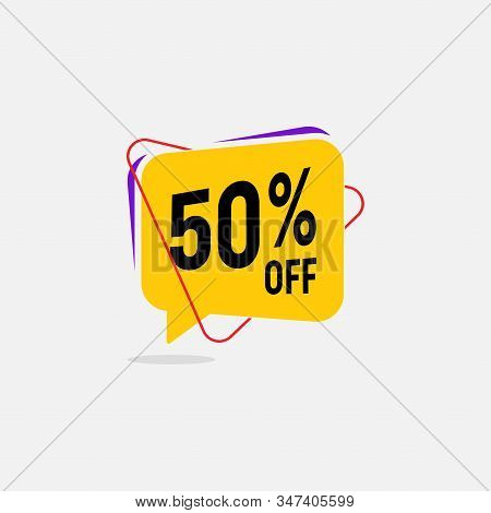 50 Percent Discount, Sales Vector Badges For Labels, Percent Sale Label Symbols, Tags, Web Stickers,