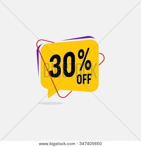 70 Percent Discount, Sales Vector Badges For Labels, Percent Sale Label Symbols, Tags, Web Stickers,