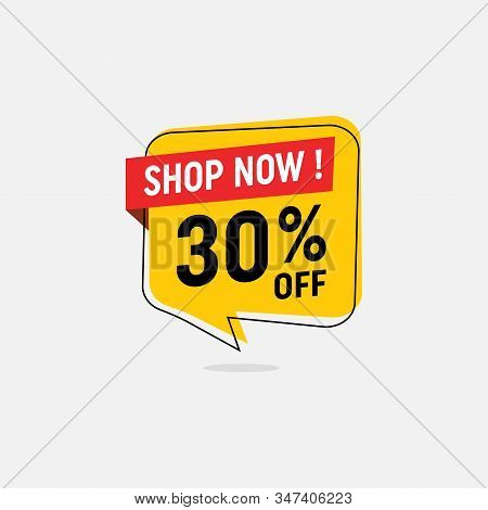 30 Percent Discount, Sales Vector Badges For Labels, Percent Sale Label Symbols, Tags, Web Stickers,