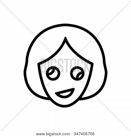 Black Line Icon For Oddity Abnormality Contrast Dissimilarity Irregularity Woman