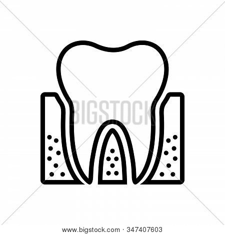 Black Line Icon For Periodontics Dental Teeth Dental-care Dental-logos Smile Dental-clinics Orthodon
