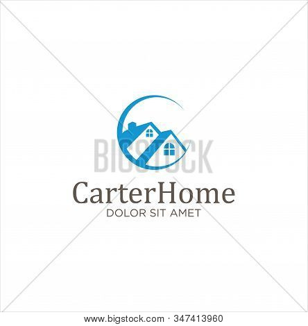 Letter C Real Estate Logo Design Vector . Initial C Home Logo Vector