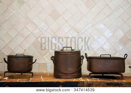 Antique Vintage Copper Pan Cookware