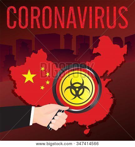 Wuhan China Coronavirus 2019ncov Flu Scan On China Map