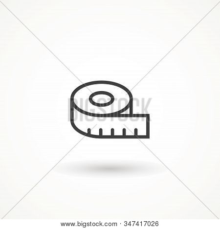 Measure Icon. Tap Measure Icon. Roulette Construction Simbol. Measuring Tape