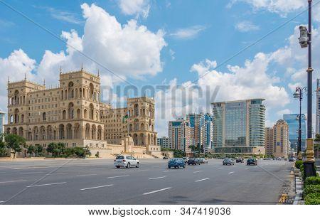 Baku - July 18, 2015: Government House in Azerbaijan, Baku. Gove