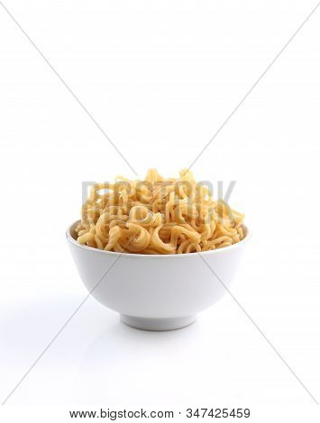 Bowl Of Noodles Isolated On White Background