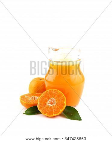 Delicious Beverage -  Orange Juice Isolated On White Background