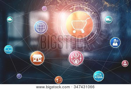 Omni Channel Technology Of Online Retail Business.