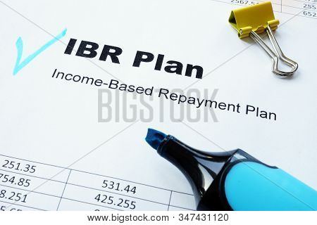 Income-based Repayment Ibr Plan Underlined Words By Marker.