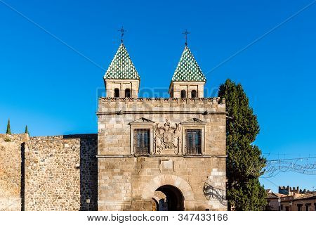 The New Bisagra Gate In The Ramparts Of Toledo, Spain