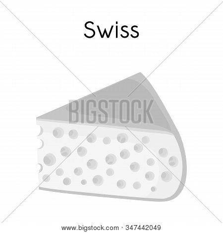 Vector Design Of Chees And Swiss Sign. Web Element Of Chees And Piece Stock Symbol For Web.