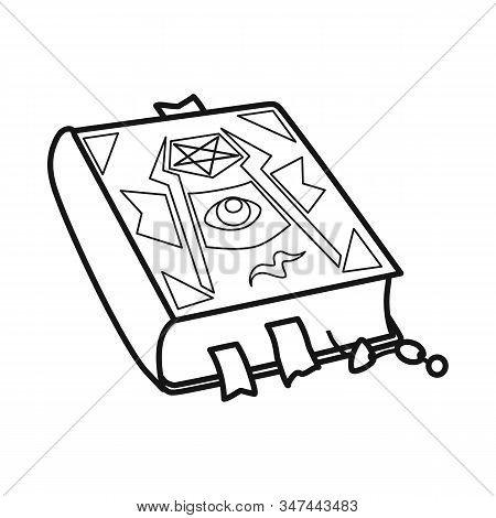 Isolated Object Of Book And Manuscript Logo. Graphic Of Book And Textbook Vector Icon For Stock.