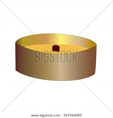 Citronella Candle Isolated On White Background. Citronella Candles Used As Mosquito Repellent. Natur