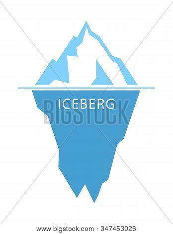 Iceberg Vector Logo On White Background. Flat Design