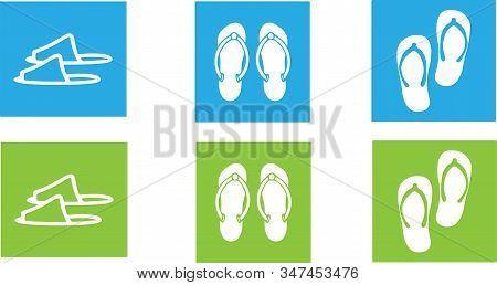 Slippers Icon Isolated On Background Es, Toilet Slipper, Toilet Slippers, Travel, Tropical, Vacation