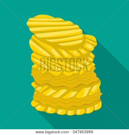 Vector Design Of Chip And Stack Icon. Web Element Of Chip And Crunchy Stock Vector Illustration.