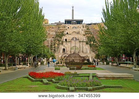 The Yerevan Cascade, Famous Landmark In The Central District Of Yerevan, Armenia, 6th Oct 2019