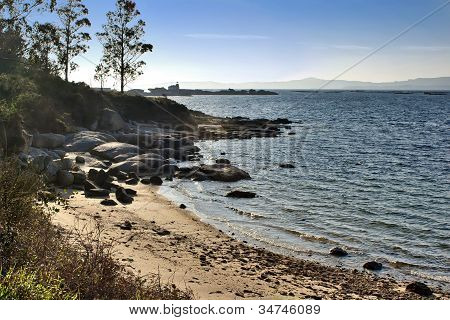 Small beach at Arousa Island