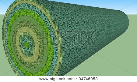 green rolled up grass