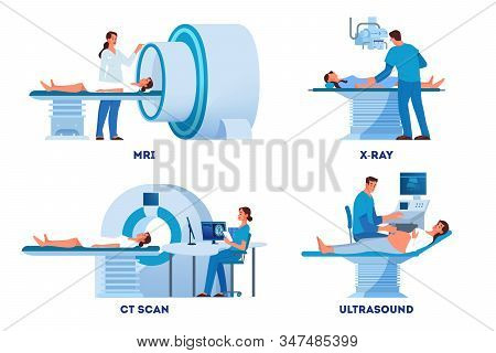 Mri And X-ray Scanner, Ultrasound And Ct Skan.