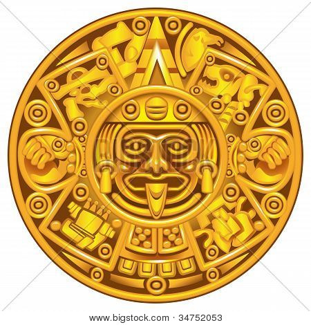 2012 the date of the end of the world from Mayan calendar poster