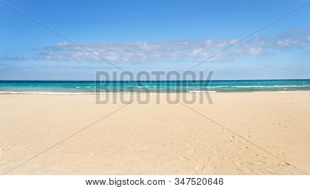Turquoise Water And Golden Beach Near Alimini Lakes, Salento, Puglia, Italy