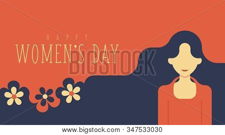 8 March Women's Day Background Illustration Vector