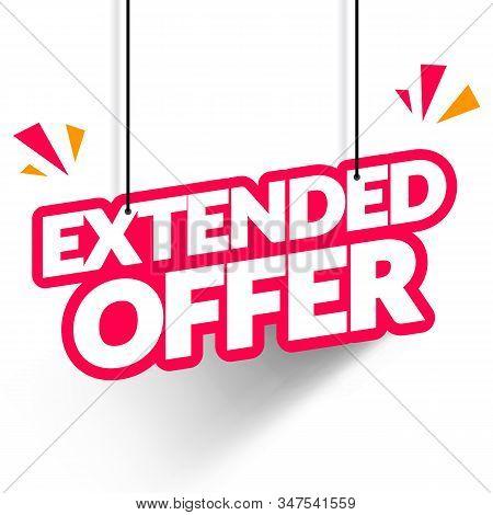 Vector Illustration Hanging Tag Extended Offer. Modern Web Banner Element