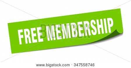 Free Membership Sticker. Free Membership Square Sign. Free Membership. Peeler