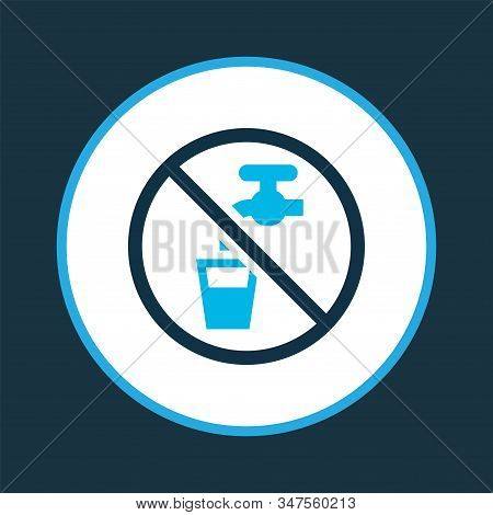 Non Potable Water Icon Colored Symbol. Premium Quality Isolated Drinkable Element In Trendy Style.