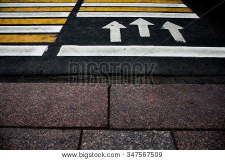 Crosswalk On The Road For Safety When People Walking Cross The Street, Crosswalk On The Street For S