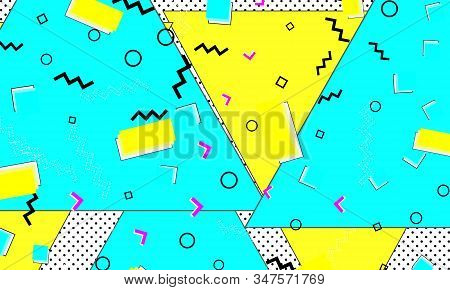 Cyan Fashion. Flow Elements. Textile Lemon Ornament. Vector Artwork. Contemporary Aqua Drawing. Yell