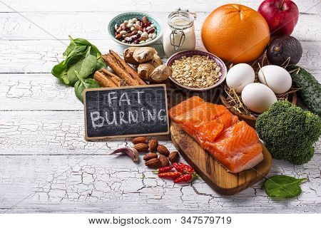 Fat Burning Products. Healthy Food For Weight Losing