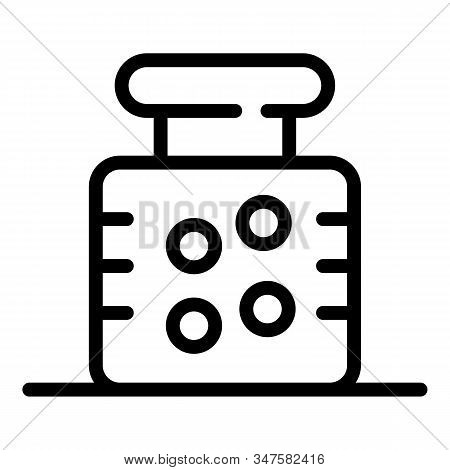Bottle For Medication Icon. Outline Bottle For Medication Vector Icon For Web Design Isolated On Whi
