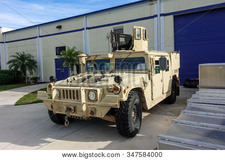 Ft. Pierce,fl/usa-1/27/20: A Land Special Operations Transport And Assault Vehicle Used By Navy Seal