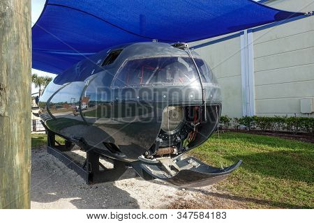Ft. Pierce,fl/usa-1/27/20: The Button Is A Navy Seal Team Submarine Used To Deliver The Divers To Th