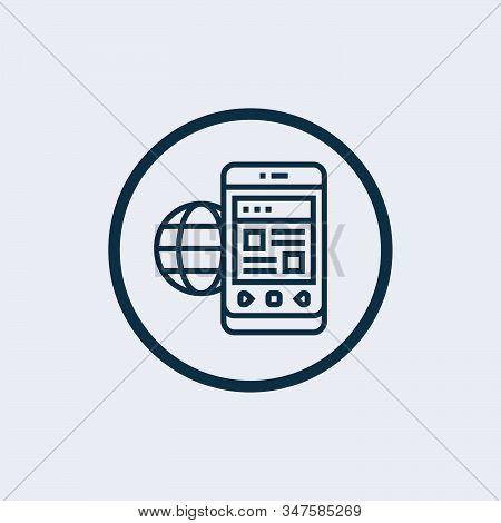 World Wide Icon Isolated On White Background, World Wide Web Concept Globe Icon Set. Planet Web Symb