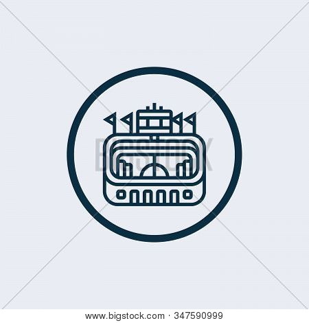Pula Arena Glyph Icon Vector On White Background. Flat Vector Pula Arena Icon Symbol Sign From Moder